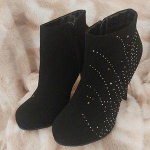 Madeline Girl Studded Black Booties Size 6